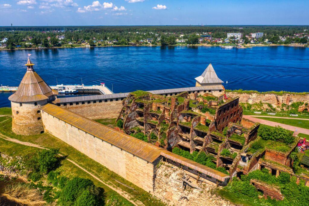 Крепость Орешек аэросъёмка санкт-петербург